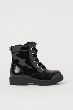 Patent Boots - Black - Kids | H&M US