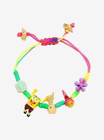 SpongeBob SquarePants Rainbow Cord Bracelet