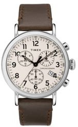 Standard Chronograph Leather Strap Watch, 41mm