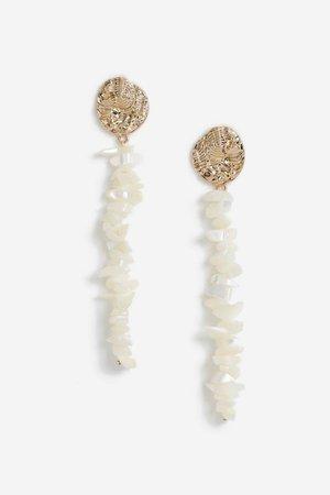 **Shell Chipping Drop Earrings | Topshop