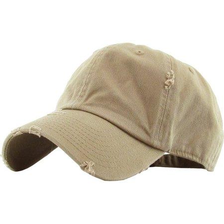 KBETHOS - Washed Solid Vintage Distressed Cotton Dad Hat Adjustable Baseball Cap Polo Style - Walmart.com - Walmart.com