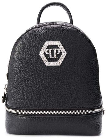 zipped logo plaque backpack