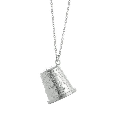Silver Thimble Necklace