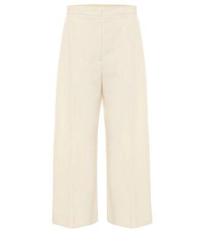 High-Rise Wide-Leg Cotton Pants | Jil Sander - Mytheresa