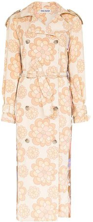 Rave Review Rue floral-print trench coat
