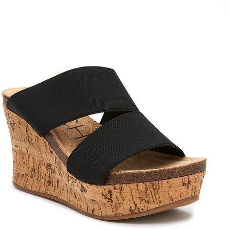 Bare All Wedge Slide Sandal