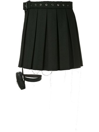 Hyein Seo garter belt pleated skirt