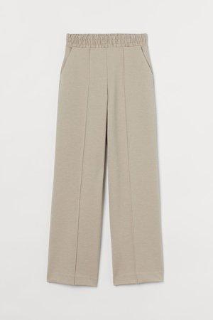 Wide-cut Pants - Beige - Ladies | H&M US