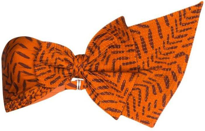 Bow-Detailed Bandeau Bikini Top