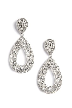 No Tears Here Earrings - Silver