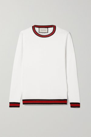 Ivory Striped wool sweater | Gucci | NET-A-PORTER