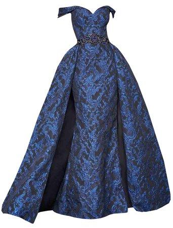 Dress Long Black Blue Ball Gown