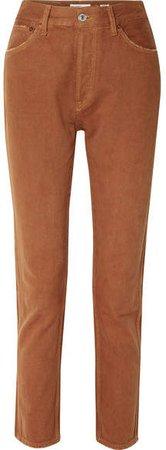 50s Cigarette High-rise Straight-leg Jeans - Tan