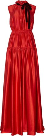 Giona Ruched Silk Gown