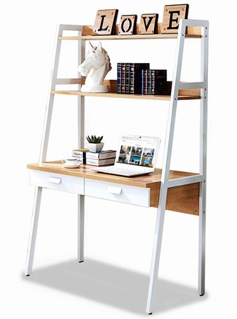 Parry Study Table with Top Shelves | Furniture & Home Décor | FortyTwo