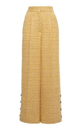 Sequined Tweed Wide-Leg Pants By Alessandra Rich | Moda Operandi