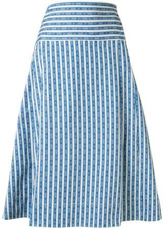 Gemini Link-print wrap skirt