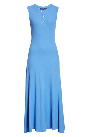Polo Ralph Lauren Henley Maxi Dress | blue