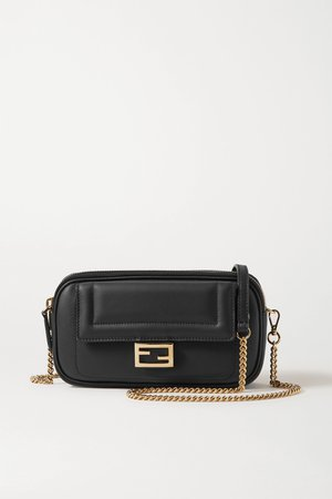 Black Easy 2 Baguette leather shoulder bag | Fendi | NET-A-PORTER