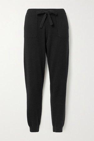 Cashmere Track Pants - Black