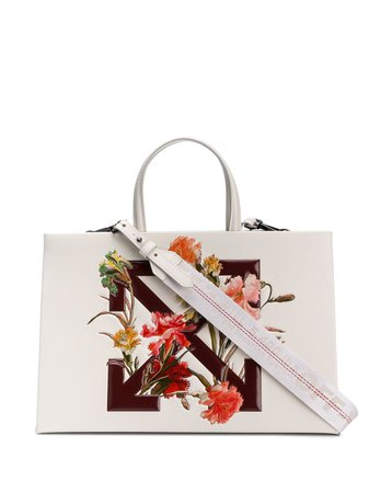 Off-White Diagonal Arrows floral print tote £1,065 - Shop Online - Fast Delivery, Free Returns