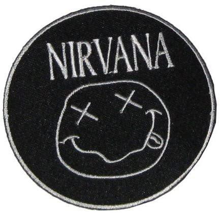 "Patch Iron On Sew On "" Nirvana "" Grunge 90s Skateboard Drugs Heavy Metal Biker Rocker Embroidered: Amazon.co.uk: Car & Motorbike"