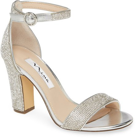 Spring Crystal Embellished Sandal