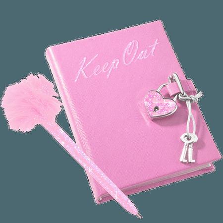 diary pinkaesthetic pastelpink pink glitter 2000s myspa...