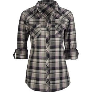 Grey/Black Plaid Flannel Shirt