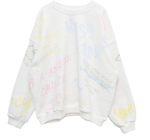 Doodle Print Sweatshirt | STYLENANDA