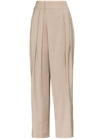Low Classic, High-Waisted Tapered Trousers Pants