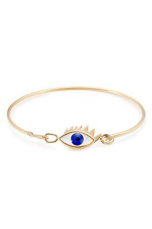9kt Gold-Plated Silver Grandma Eye Bracelet Gr. One Size