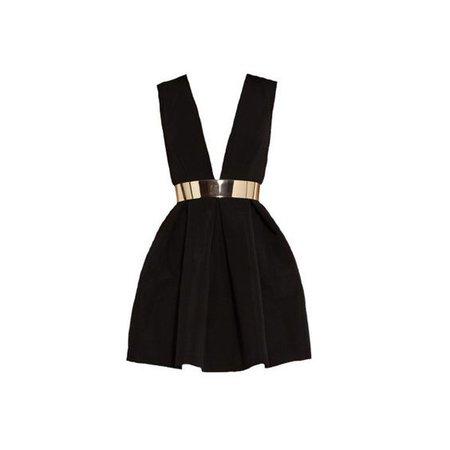 Black Dress With Gold Belt