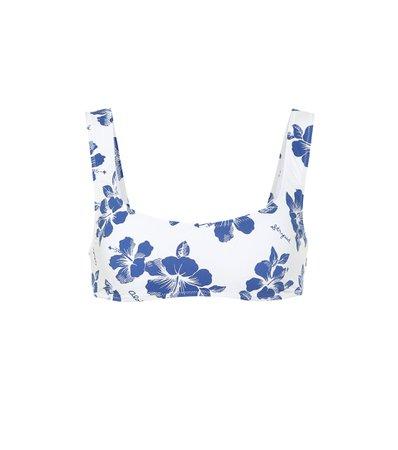 Solid & Striped - The Elle floral bikini top | Mytheresa