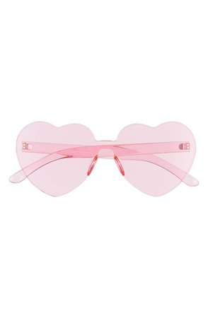 *clipped by @luci-her* Bp. Be Proud By Bp. Gender Inclusive 52mm Rimless Heart Sunglasses - Pink