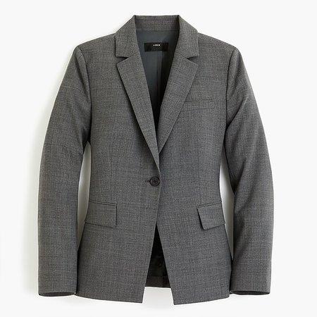 J.Crew: Slim Single-button Blazer In Everyday Wool grey
