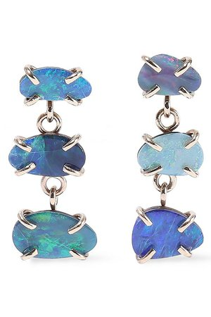 14-karat gold opal earrings | MELISSA JOY MANNING | Sale up to 70% off | THE OUTNET