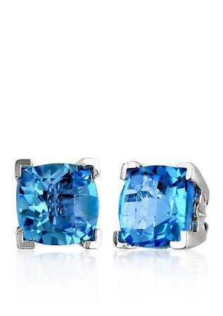Effy® Blue Topaz Stud Earrings in 14k White Gold