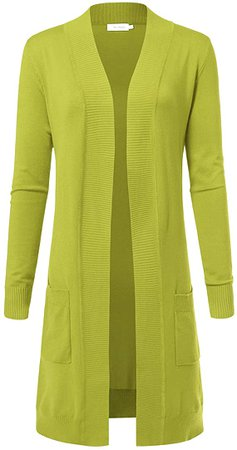 Women's Solid Soft Stretch Longline Long Sleeve Open Front Cardigan at Amazon Women's Clothing store