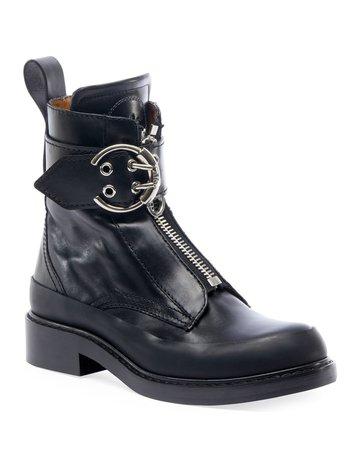 Chloe Roy Lug-Sole Combat Boots | Neiman Marcus