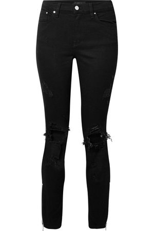 AMIRI | Thrasher distressed high-rise skinny jeans | NET-A-PORTER.COM