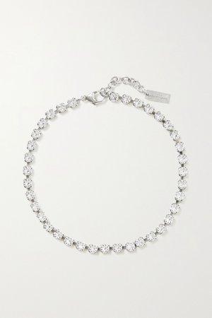 Silver Silver-tone crystal bracelet | SAINT LAURENT | NET-A-PORTER
