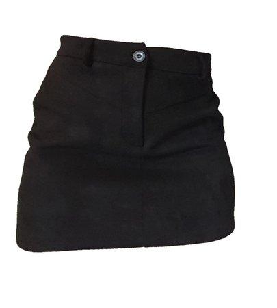 black suit mini skirt
