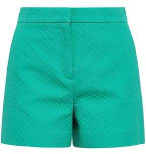 Cotton, Wool And Silk-blend Matelasse Shorts