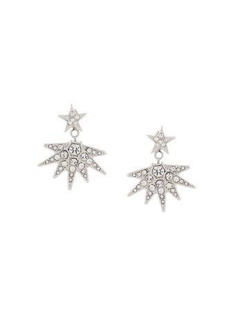 Kenneth Jay Lane Star Drop Earrings 1477ESC Silver   Farfetch