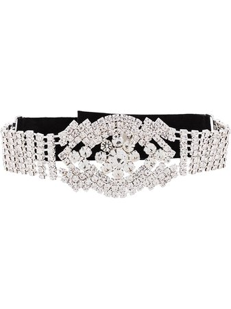 Manokhi Rhinestone Choker Necklace SS20MANO248CHOKER Black | Farfetch