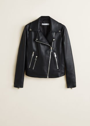 Zipped biker jacket - Women | Mango USA