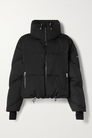 Mont Blanc Hooded Quilted Down Jacket - Black