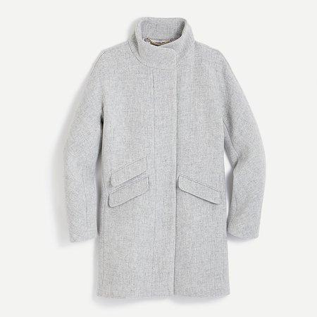 J.Crew: Cocoon Coat In Italian Stadium-cloth Wool For Women