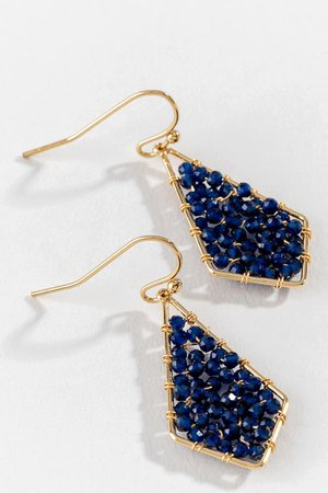 Juliana Beaded Teardrop Earrings | francesca's